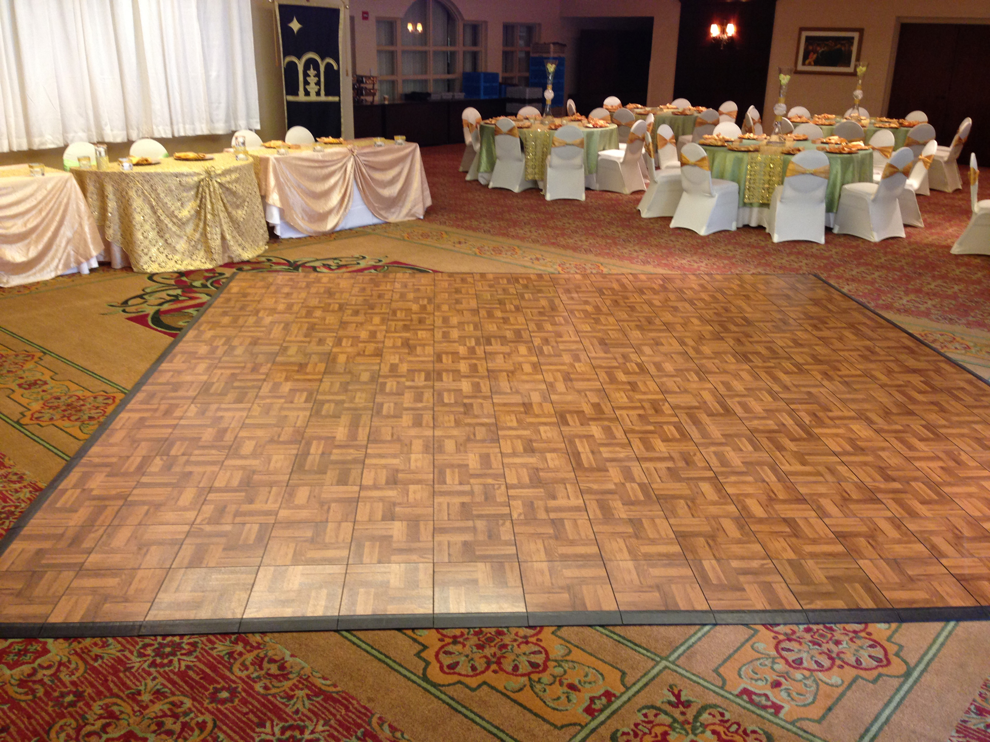 Diy rosco dance floor floors ballet studio marley sprung for Marley floor cost
